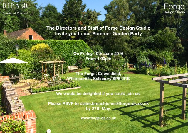 Forge DS Garden Party Invite
